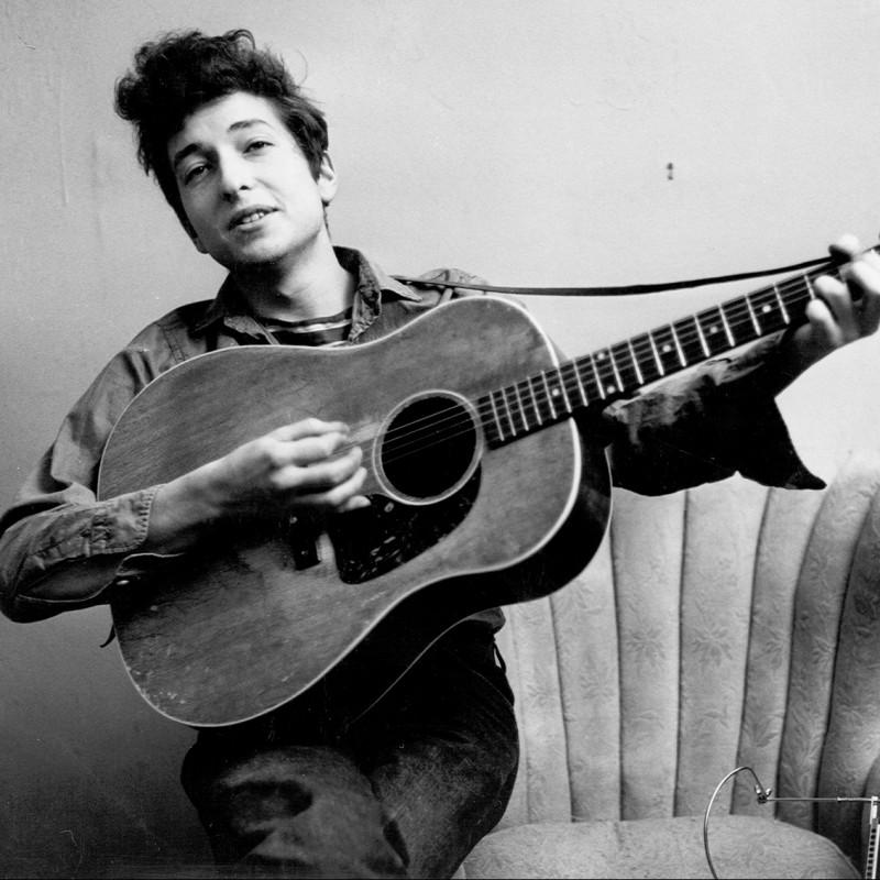 Bob Dylan Guitar with Digital Signature