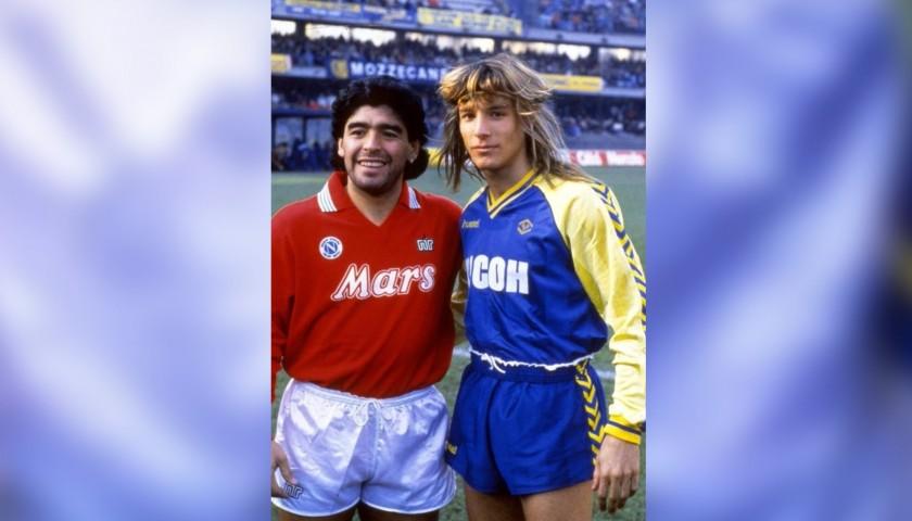 Maradona's Napoli Match-Issue/Worn Shirt, 1989/90