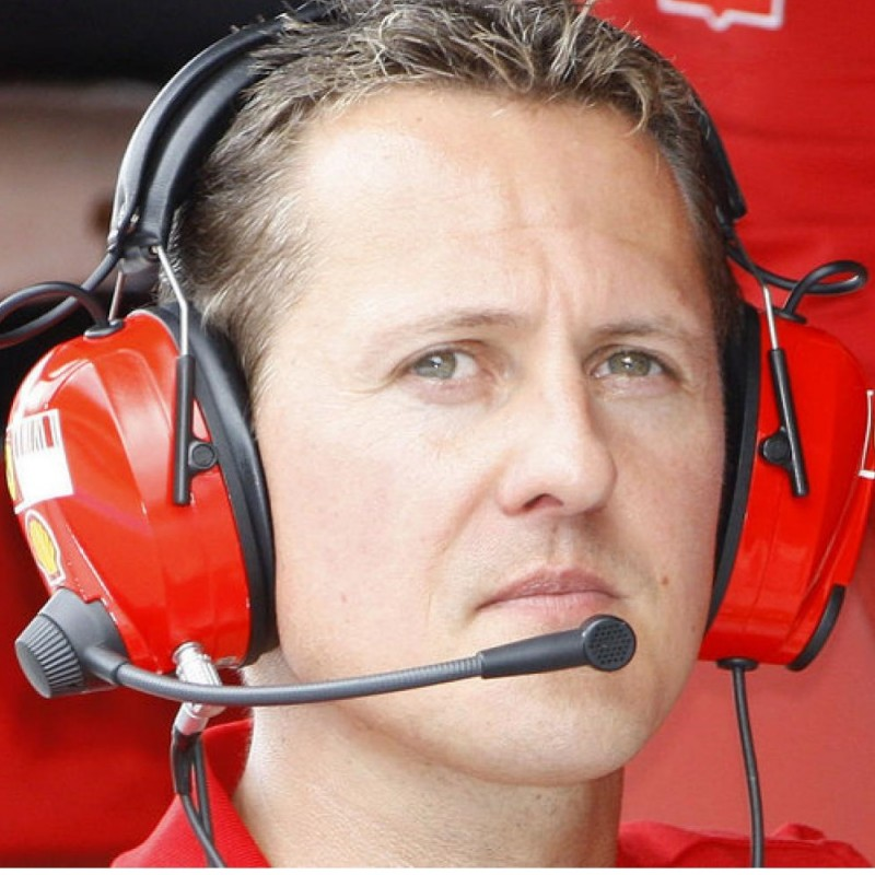 Michael Schumacher's Used and Signed Personal Ferrari MS Head Set