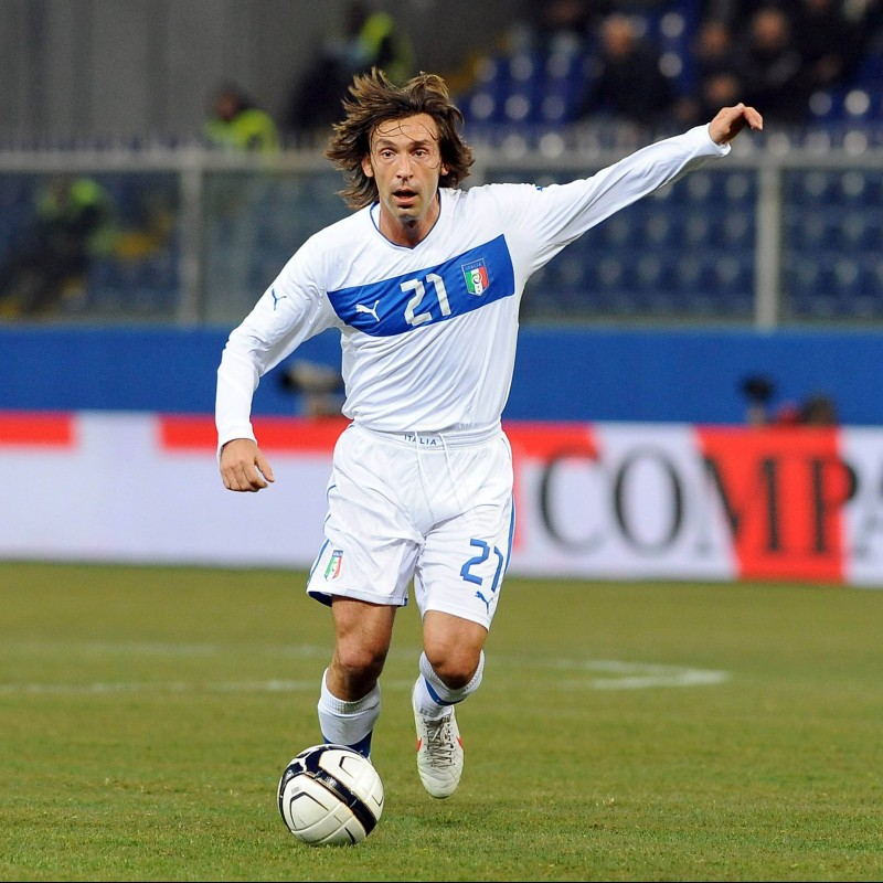 Pirlo's Match-Issue/Worn Shirt, Italy-Nigeria 2013