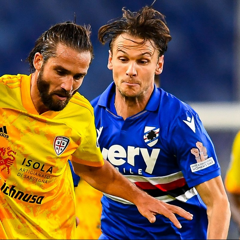 Ekdal's Worn Shirt, Sampdoria-Cagliari, Special Patch