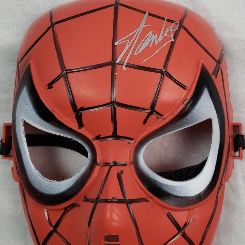 Spiderman Mask with Printed Stan Lee Signature