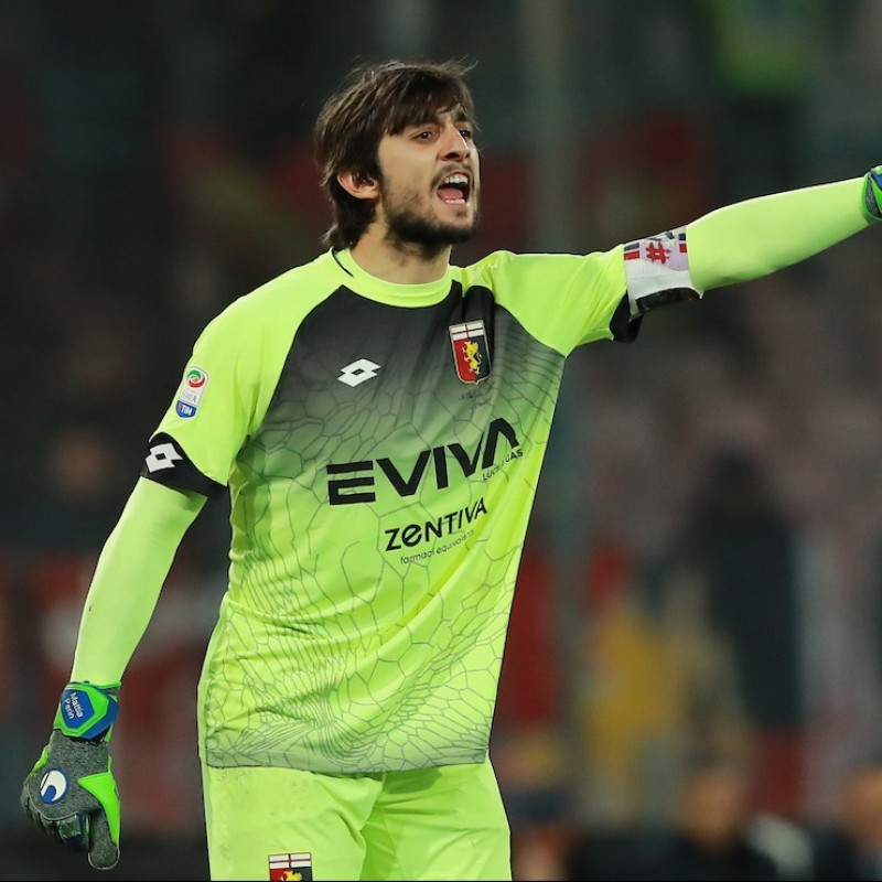 Perin's Genoa Match-Issue Shirt Signed by Players, 2017/18 Season