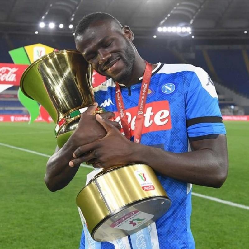 Koulibaly's Napoli Match Signed Shirt, Coppa Italia 2020
