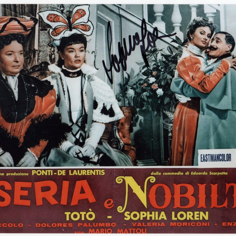 """Miseria e Nobiltà"" Photograph Signed by Sophia Loren"