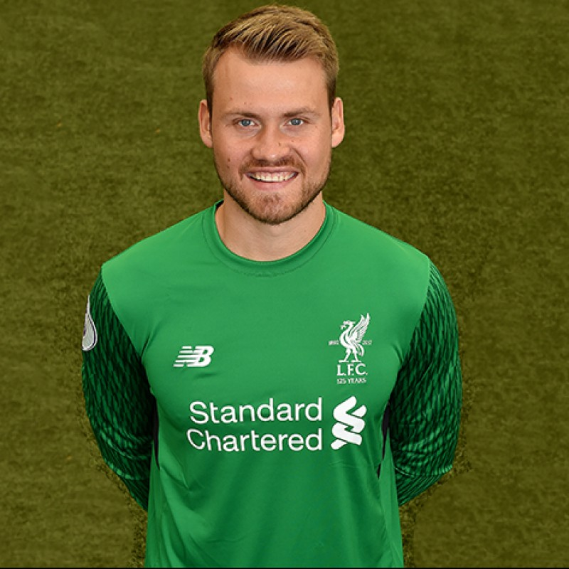 Simon Mignolet s Worn and Signed Limited Edition  Seeing is Believing   17 18 Liverpool 93d14f910