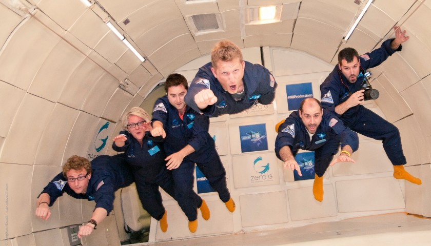 Zero gravity weightless flight - astronaut training