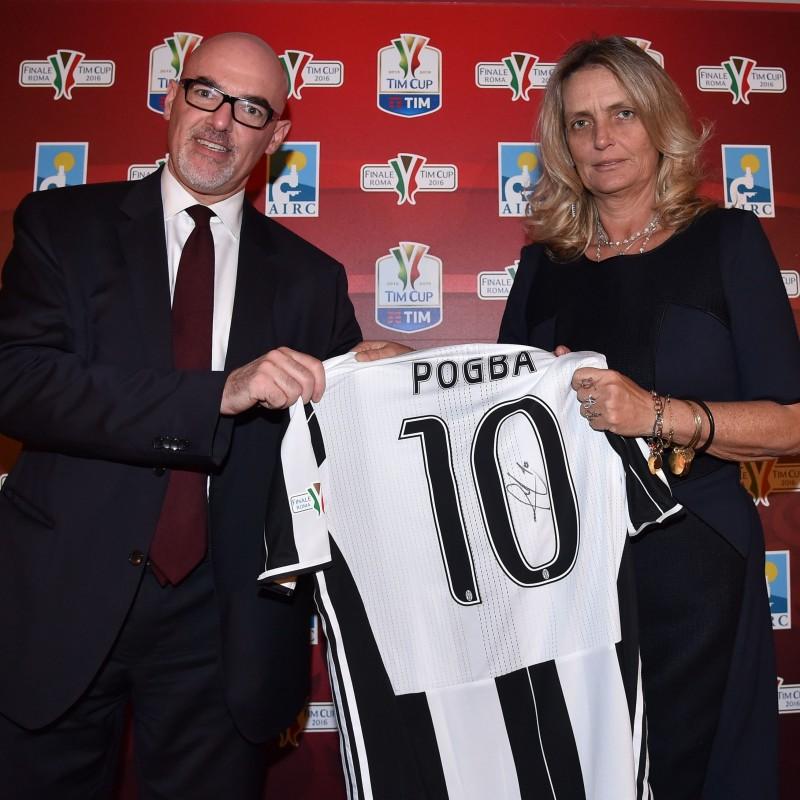 Pogba shirt, issued Milan-Juventus Tim Cup final - signed
