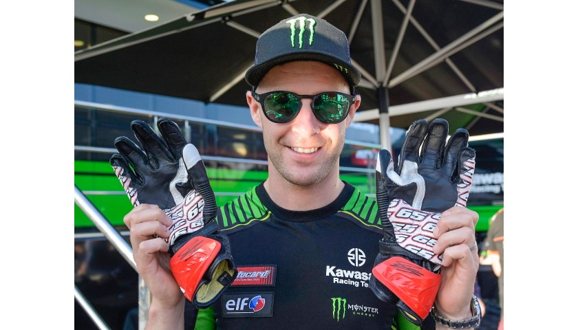 Racing Gloves Worn and Signed by Jonathan Rea at Portimao