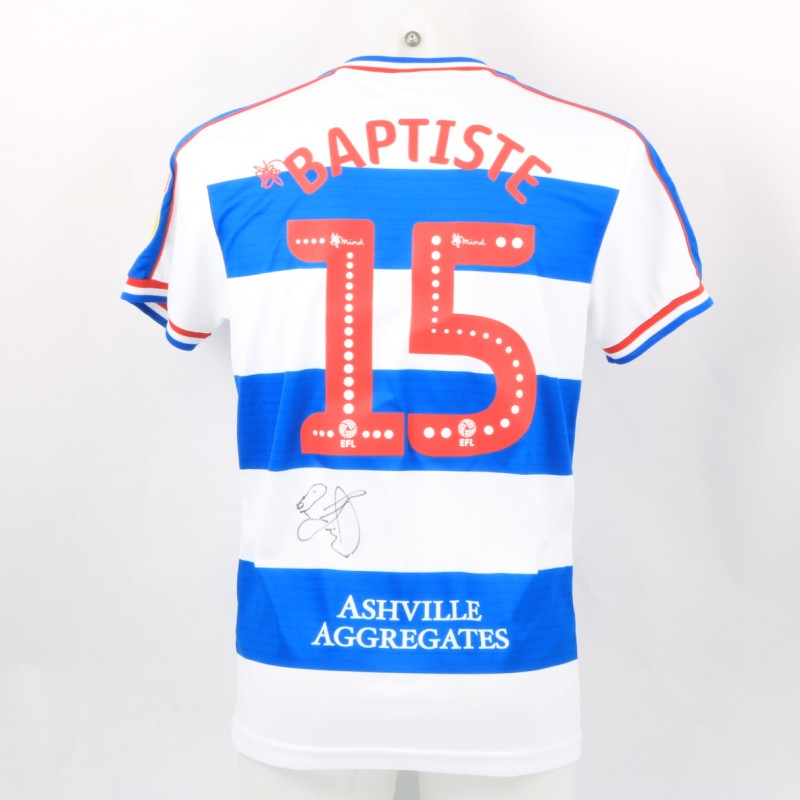 Baptiste's Queens Park Rangers Match-Issued Signed Poppy Shirt
