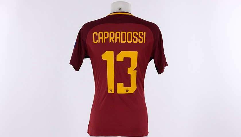 Auction Capradossi s Match-Issue Roma-Barcelona CL 2017 18 Shirt 228a31548