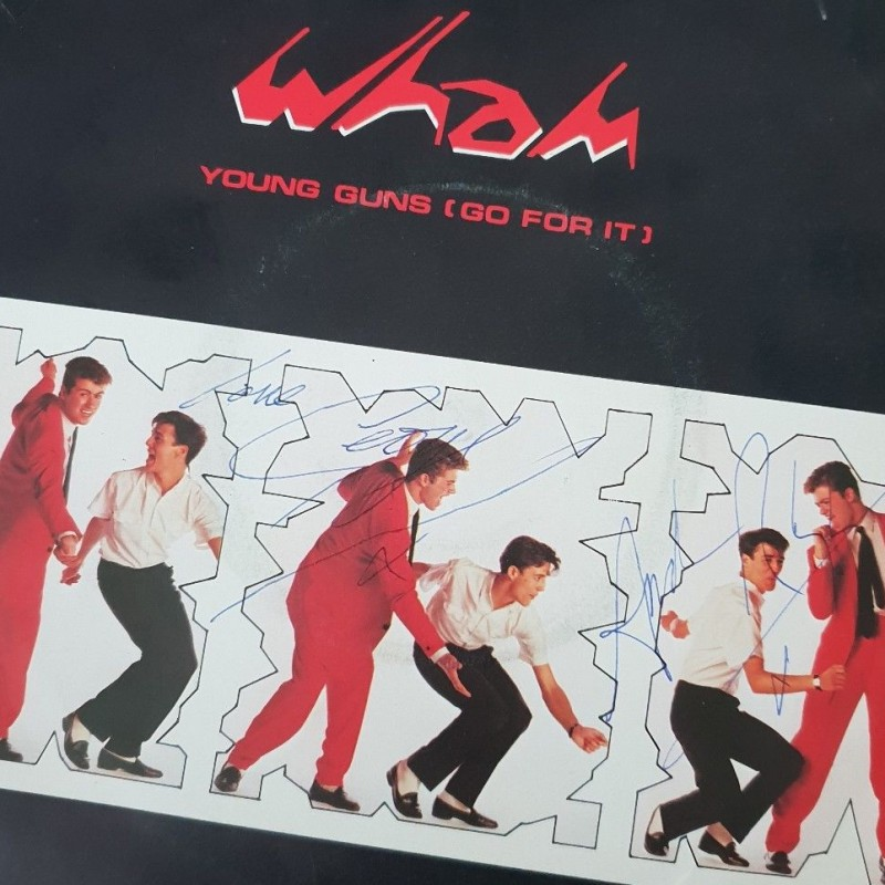 Wham! Signed Single Display