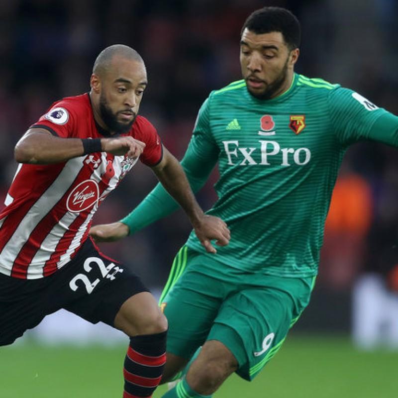 Deeney's Watford FC Worn and Signed Away Poppy Shirt