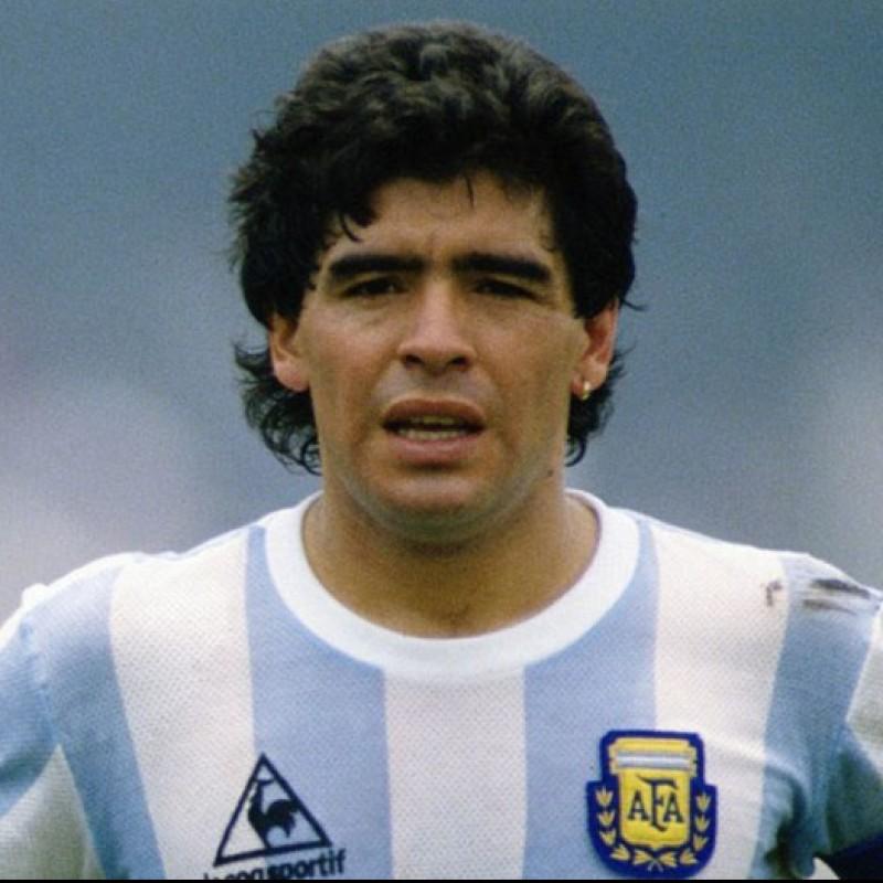 Maradona's Argentina Retro Signed Shirt