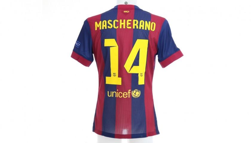 Mascherano's Barcelona Match Shirt, Berlin Final 2015
