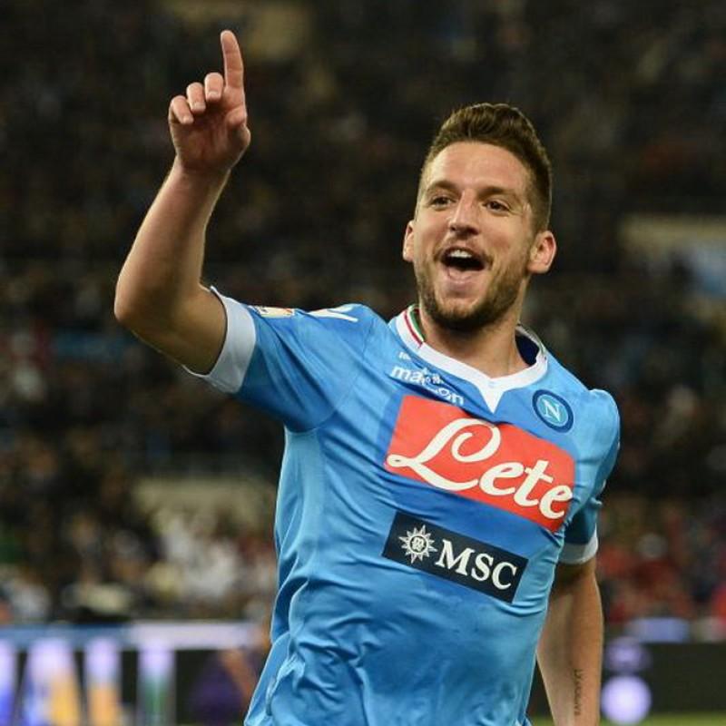 Mertens' Napoli Match-Issued Signed Shirt, Coppa Italia 2014