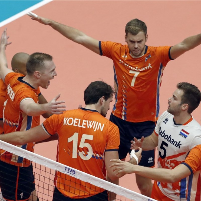 Official FIVB Volleyball Signed by the Netherlands National Volleyball Team