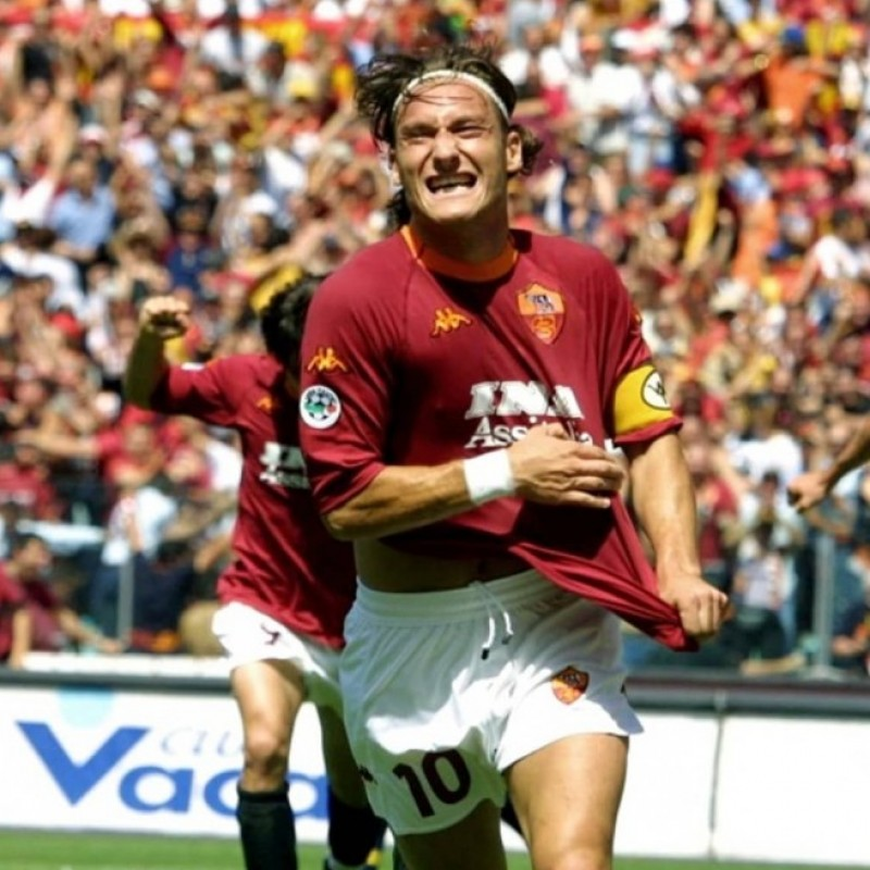 Totti's Official Roma Signed Shirt, 2000/01