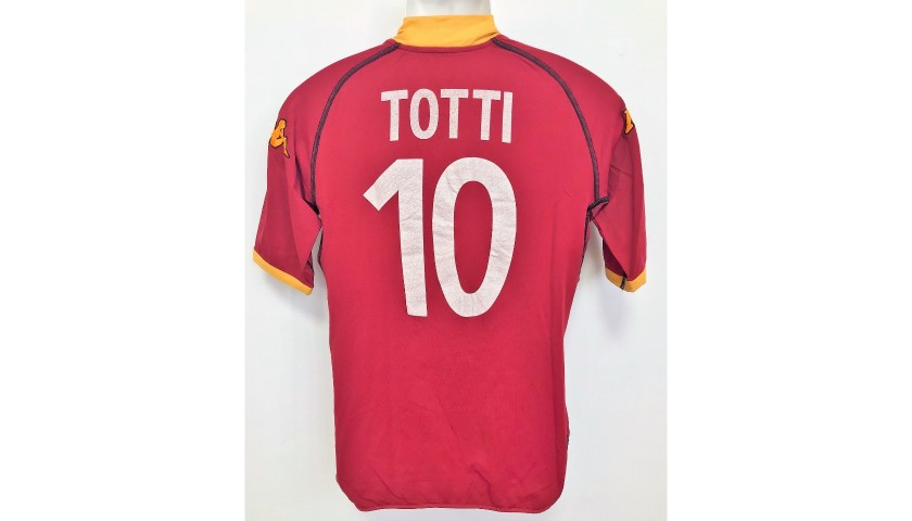 Totti's Roma Match-Issued Shirt, 2002/03