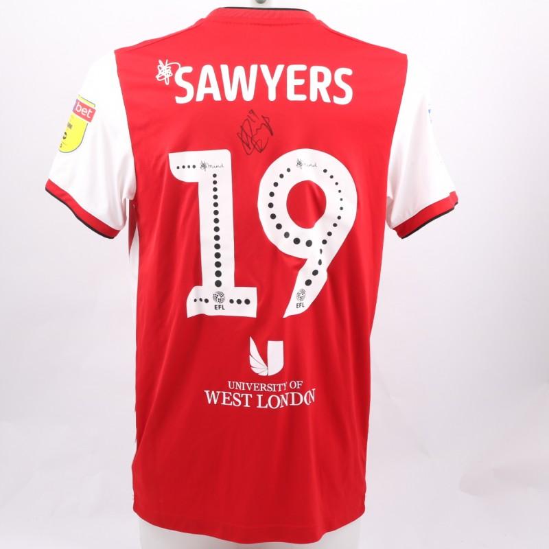 Sawyers' Brentford Worn and Signed Poppy Shirt