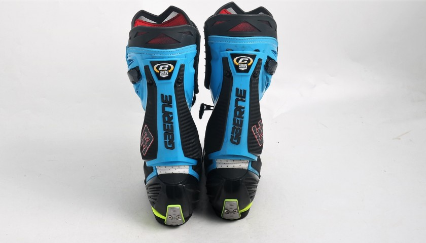 Gaerne Boots Worn and Autographed by Marco Melandri, 2017 Season