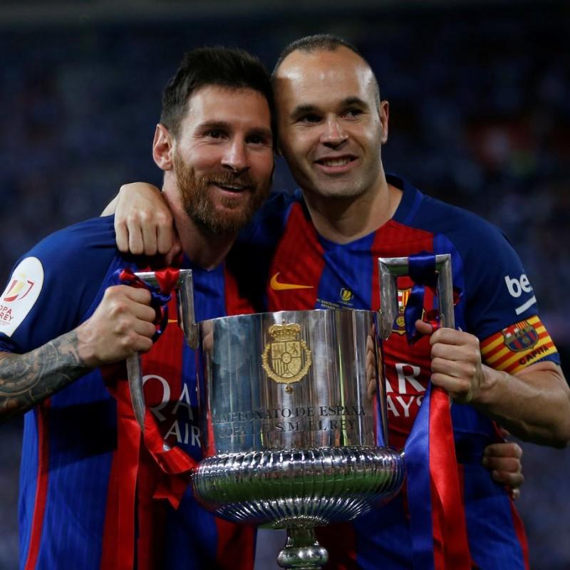 Iniesta's Barcelona Shirt, Copa del Rey Final 2017