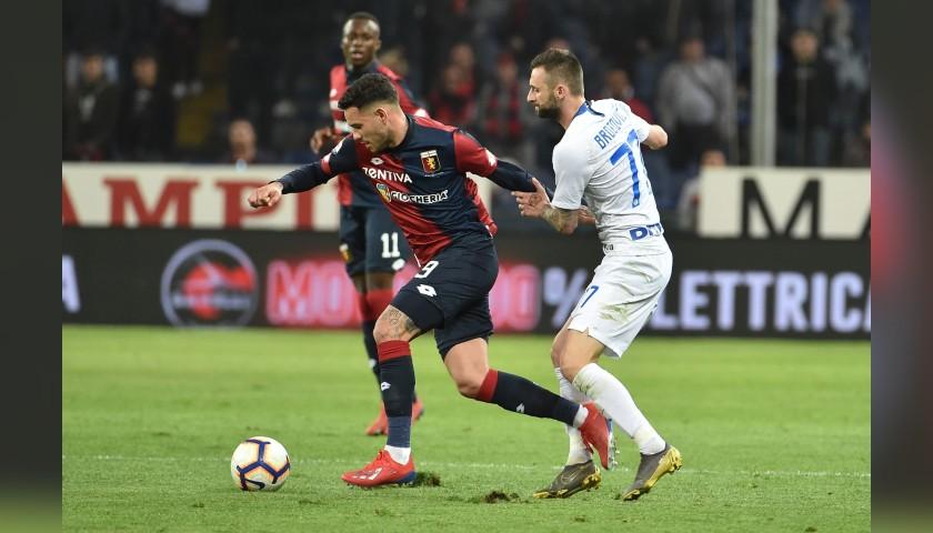 Sanabria's Genoa Match-Issue Signed Shirt, 2018/19