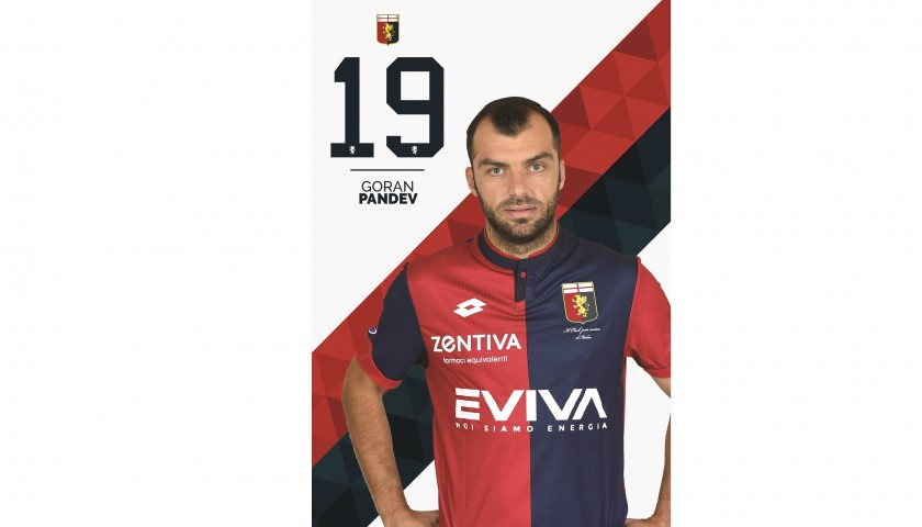 Pandev's UNWASHED Special Genoa-Sampdoria Match-Worn Shirt