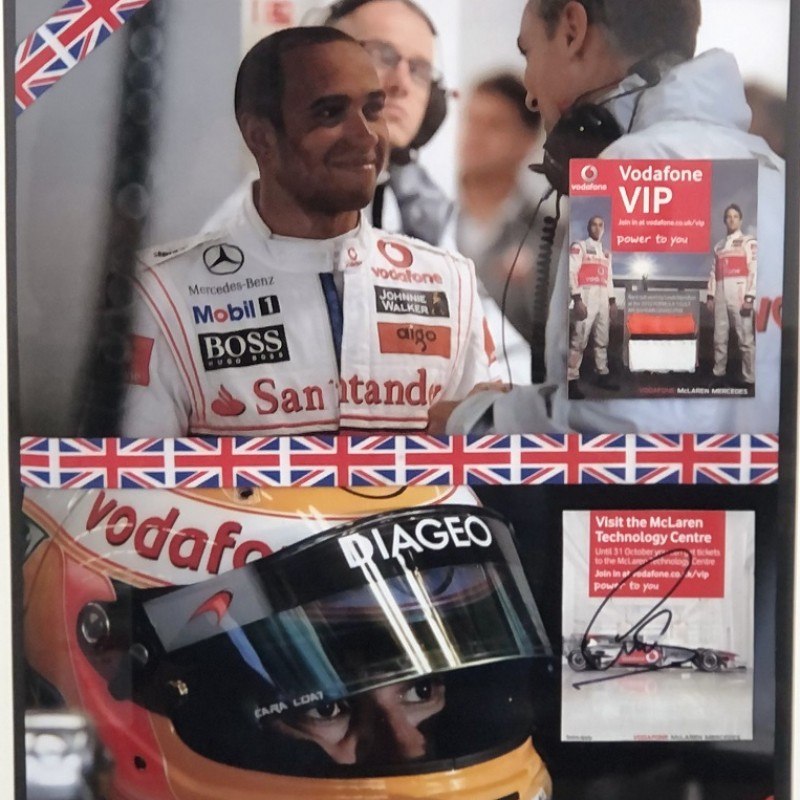 Lewis Hamilton Race Suit Piece Signed