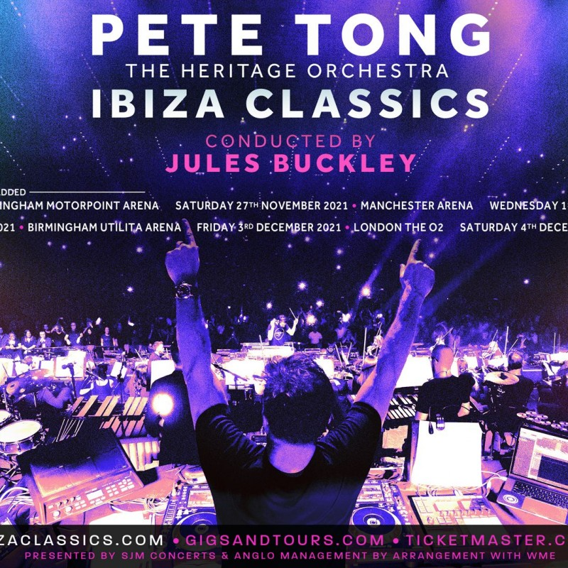 2 Tickets to Pete Tong Presents Ibiza Classics