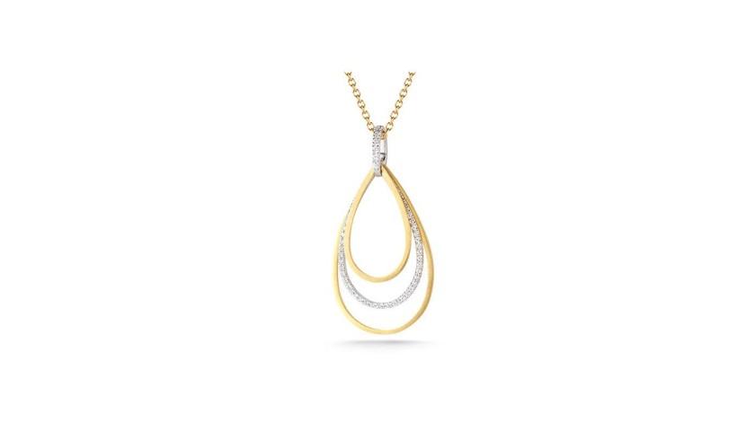 14 Karat Yellow Gold Tear-Drop Necklace