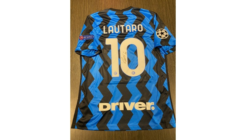 Lautaro's Official Inter Signed Shirt, 2020/21