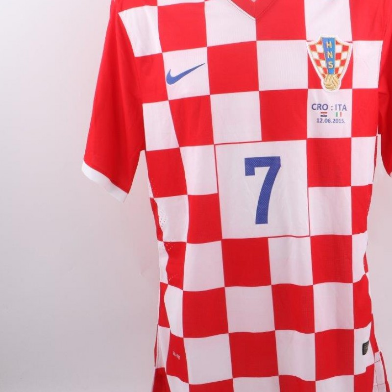 Rakitic shirt, Croazia-Italia 12/6/15, Euro16 Qualifying