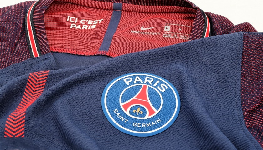 Mbappe's Signed Match-Issued/Worn PSG Shirt, 2017/18
