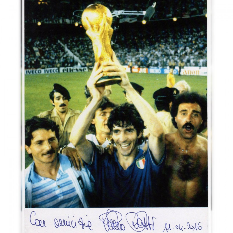 Photograph Signed by Paolo Rossi