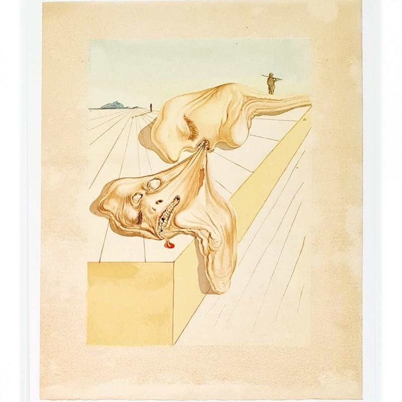 Original Board by Salvador Dalì - Divine Comedy Inferno Canto XXX