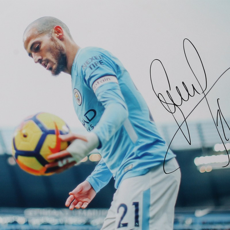 David Silva - 'The Spanish Magician' Signed Print