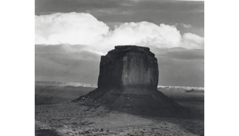 """Monolith at Twilight"" by Ansel Adams"