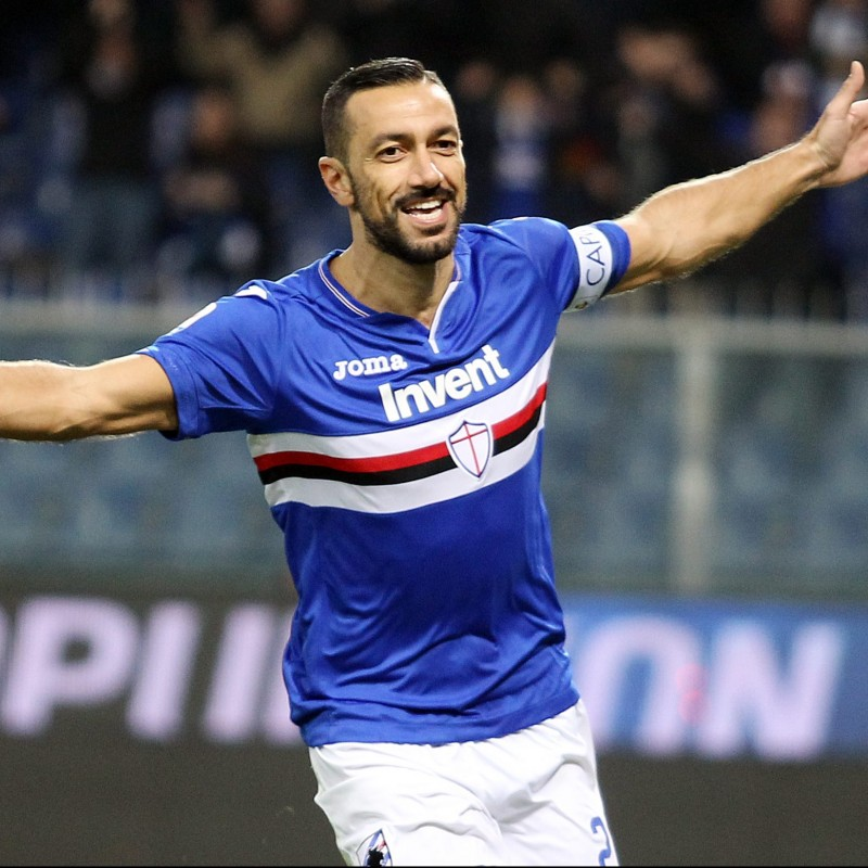 Quagliarella's Official Sampdoria Signed Shirt, 2018/19