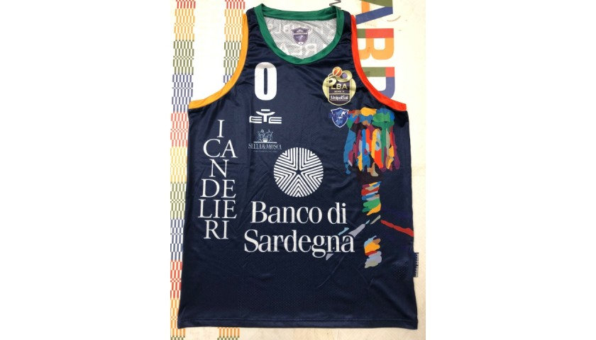Spissu's Dinamo Sassari Worn and Signed Jersey, Final 8 2021