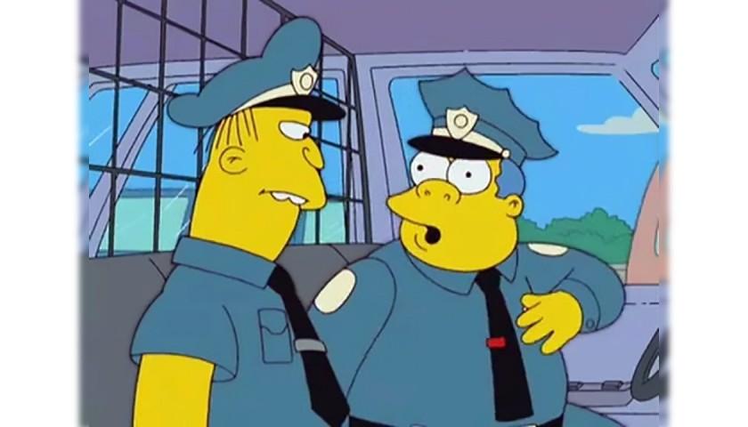 The Simpsons - Original Drawing of Chief Clancy Wiggum