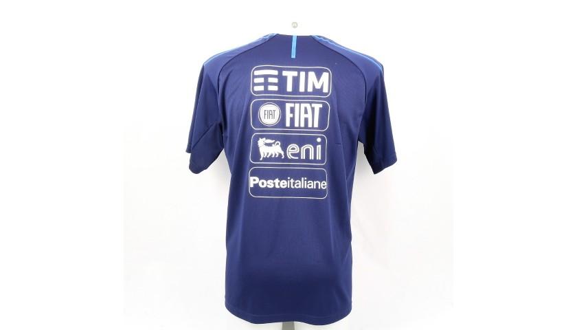 Barella's Italy Match-Issue Shirt, 2018 + Training T-Shirt