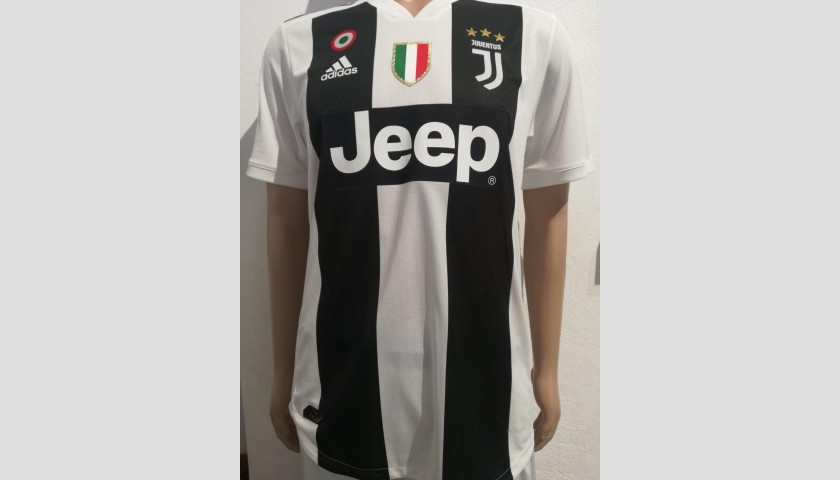 Spinazzola's Match-Issue Juventus Shirt - Signed with Dedication