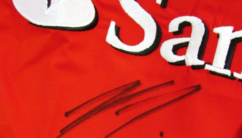 Ferrari shirt signed by Raikkonen and Alonso
