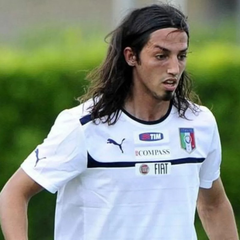 Schelotto's Italy U21 Match Shirt, 2010 Season