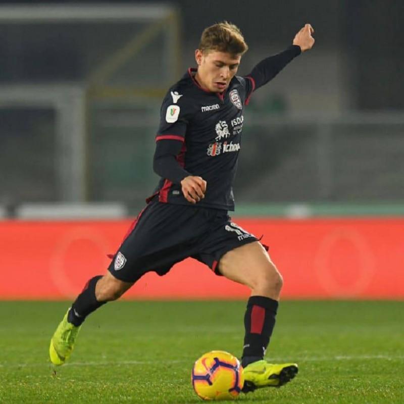 Barella's Worn and Signed Shirt, Chievo-Cagliari 2018