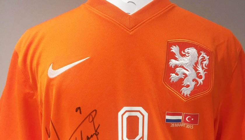 Klaas-Jan Huntelaar Match-Issued & Signed Netherlands Shirt