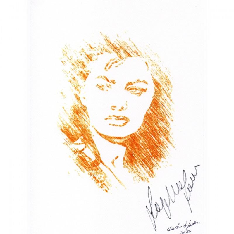 Sophia Loren Signed Pop Artwork by Gabriele Salvatore