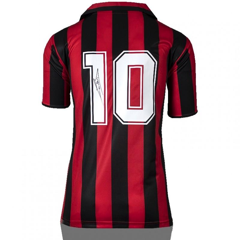 Ruud Gullit Back Signed Retro AC Milan Home Shirt