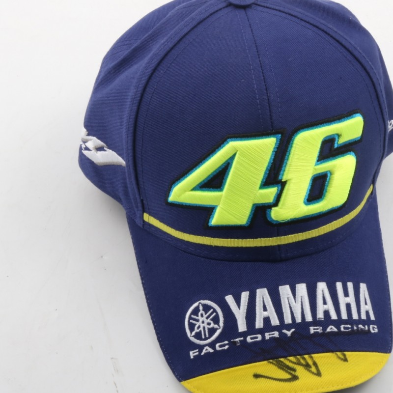 Official Yamaha hat, signed by Valentino Rossi